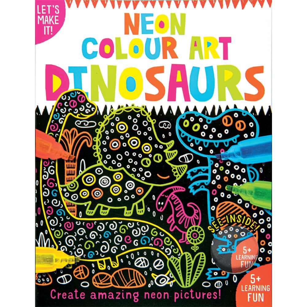Books Neon Colour Art: Dinosaurs