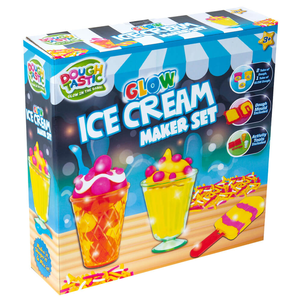 'Dough-tastic Glow Ice Cream Maker Set