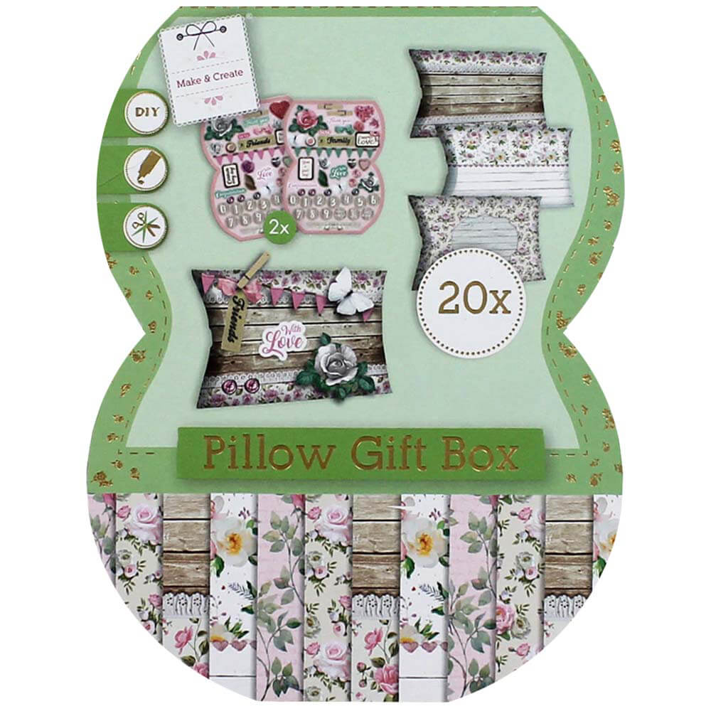 'Make Your Own Pillow Gift Boxes - Florals