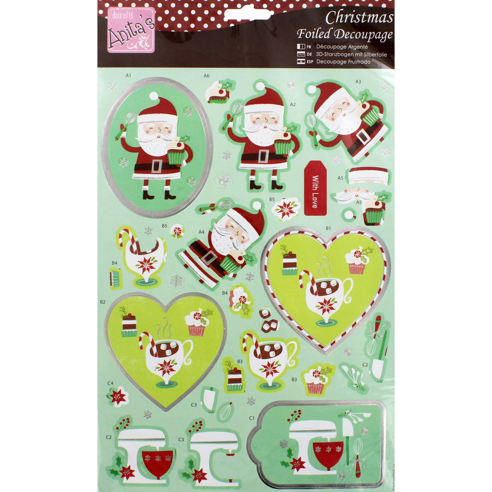 Christmas Sweet Treats Foiled Decoupage
