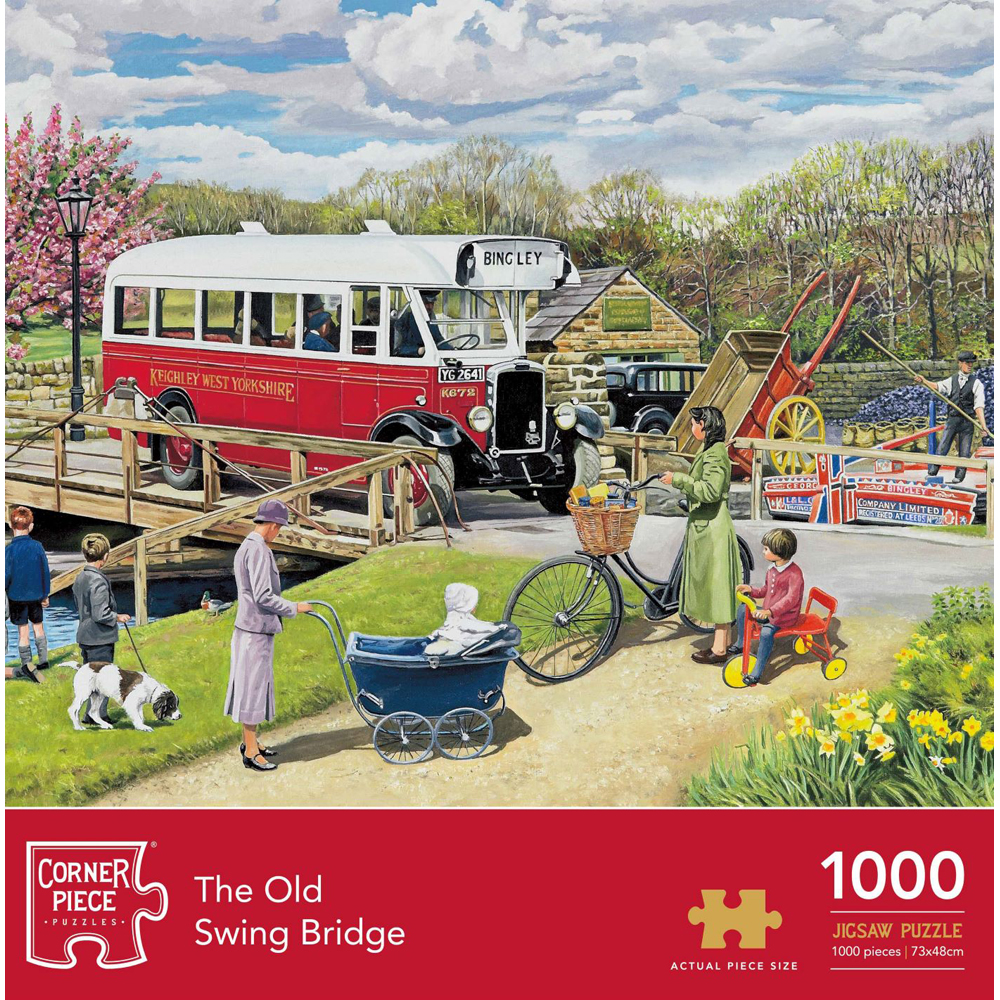 Old Swing Bridge 1000 Piece Jigsaw Puzzle