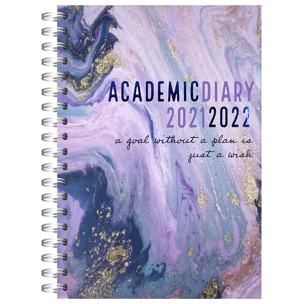 'A5 Goal Without A Plan 2021-2022 Week To View Diary