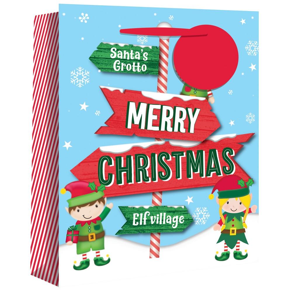 Jumbo Elf Sign Gift Bag