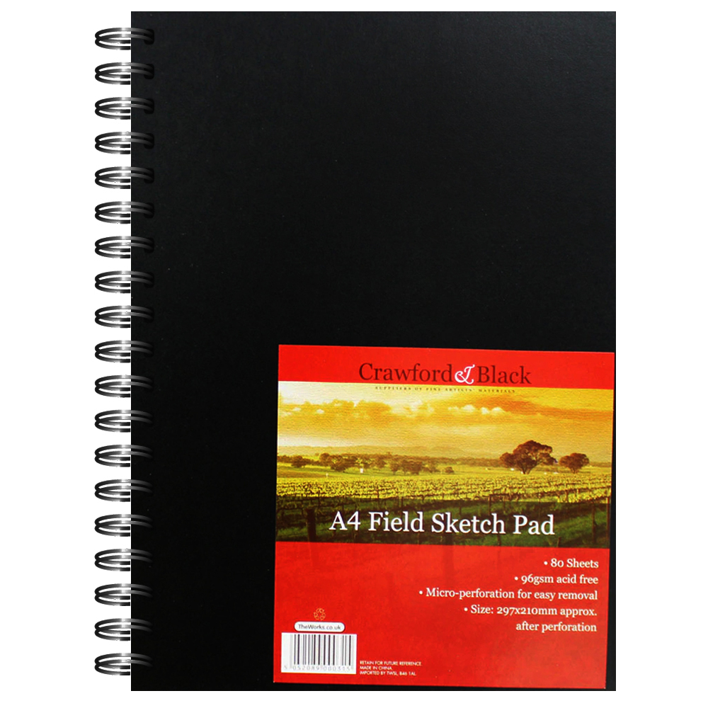 Notebooks & pads|Art|Arts & Crafts Supplies A4 Field Sketch Pad - Crawford And Black