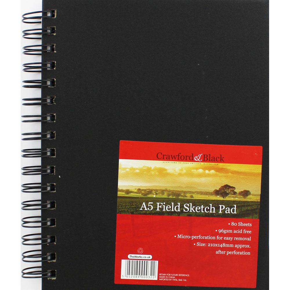 Notebooks & pads|Art|Arts & Crafts Supplies A5 Field Sketch Pad